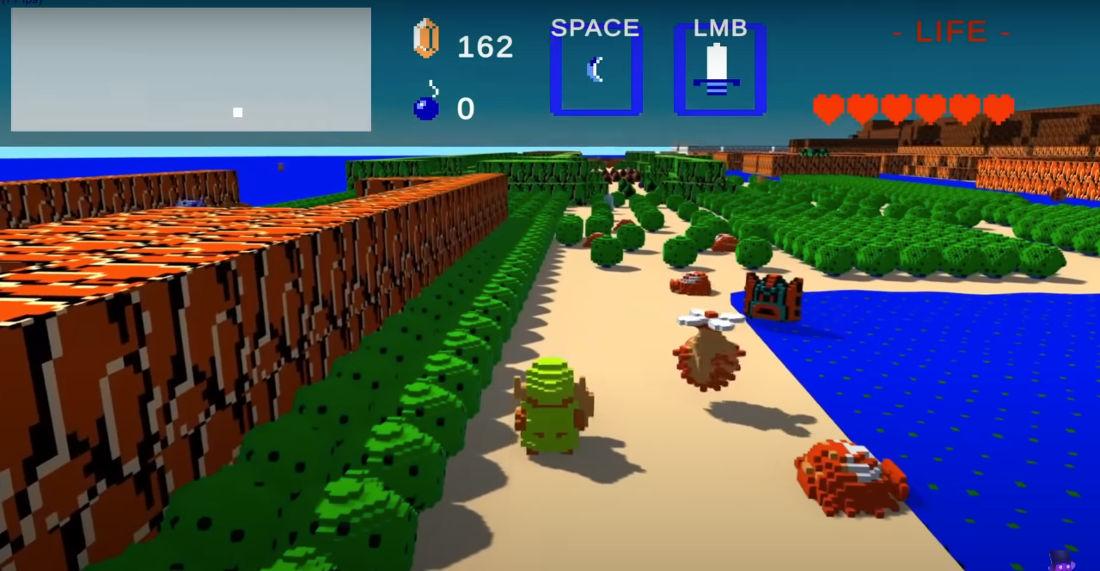 Man Recreates Legend Of Zelda, Super Mario Bros., Sonic The Hedgehog In 3D