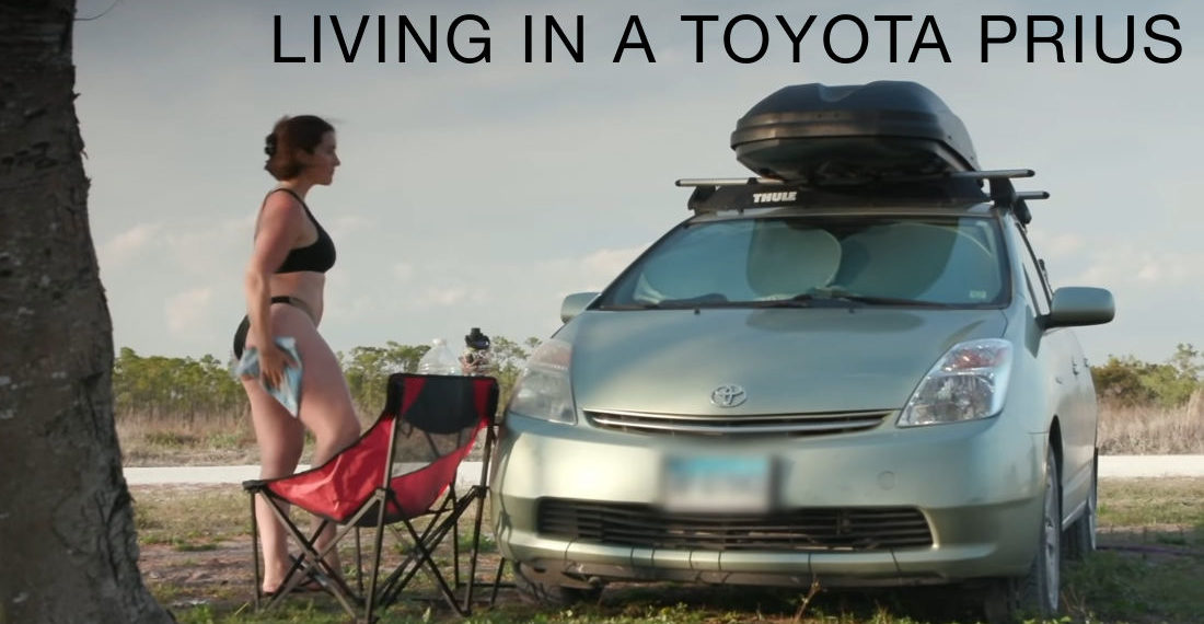 Video About A Woman Who Lives In Her Prius 'Full Time' While Traveling