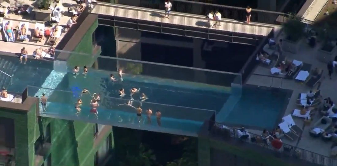 Video From London's Now Open All-Glass Sky Pool