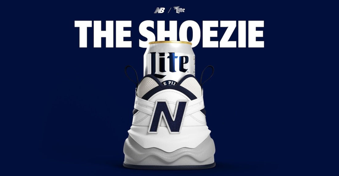 The Miller Lite x New Balance 'Shoezie' Beer Koozie For Father's Day