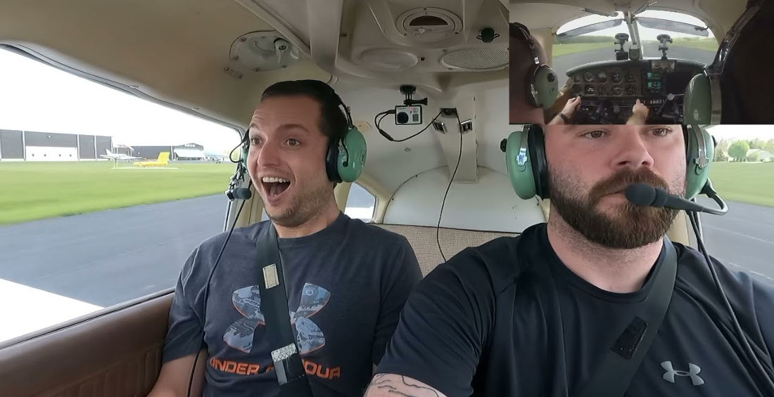 The Old 'Get A Pilot License Behind Your Friend's Back' And Take Him Flying Prank