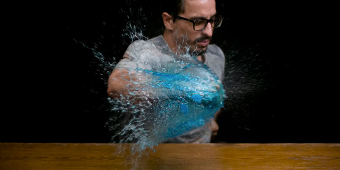 A Trippy Video Combining Slow Motion And Regular Speed Footage Simultaneously