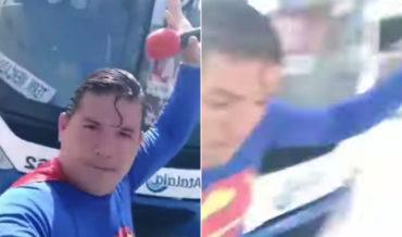 Superman Proves Too Weak To Stop Bus, Gets Hit