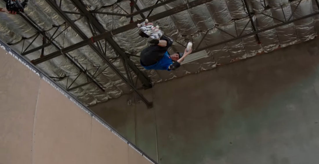 Tony Hawk Performs Half Pipe 540 Without Spilling Glass Of Milk