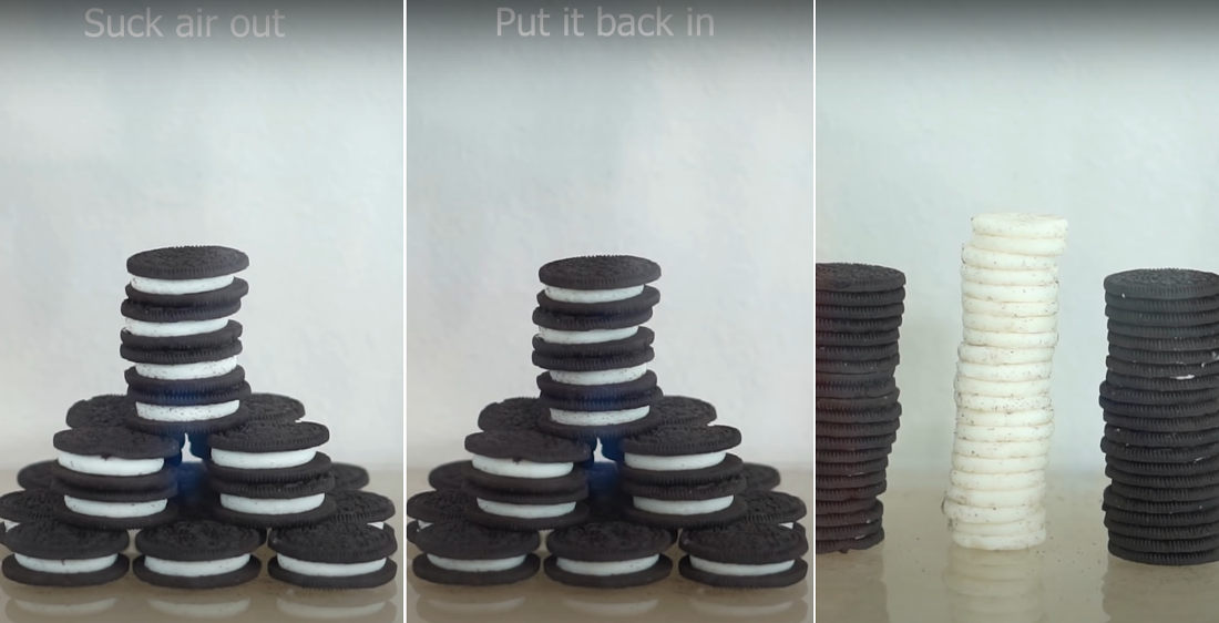 Scientist Uses Vacuum Chamber To Perfectly Separate Filling From Oreo Cookies