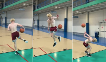 What Did I Just Watch?: Guy's Incredible Layup Trick Shot