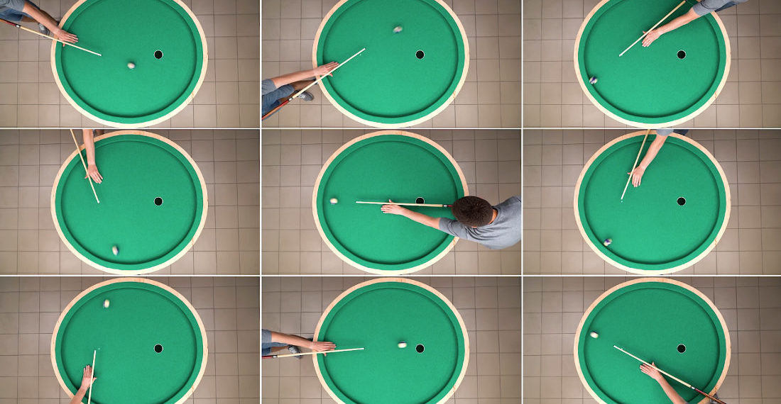 Guy Builds Elliptical Pool Table That Sinks Every Shot
