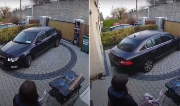 Demonstration Of Driveway Turntable So You Don't Have To Reverse Onto Busy Street