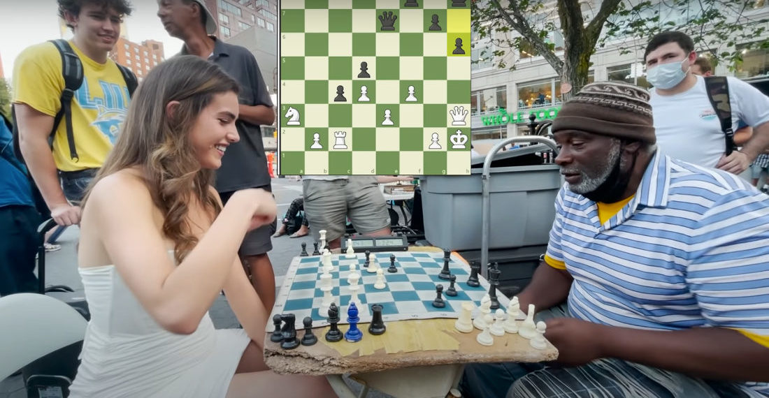Master Chess Player Challenges The Hustlers Of Union Square Park In NYC