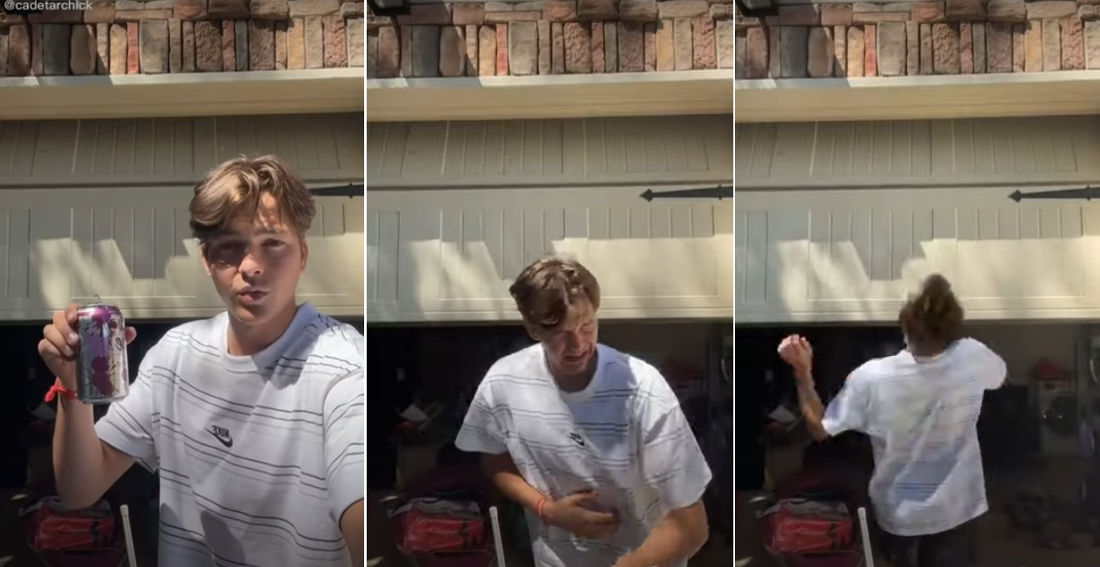 LEGO Death Star Owner Attempts To Chug Can Of Sparkling Water Without Burping