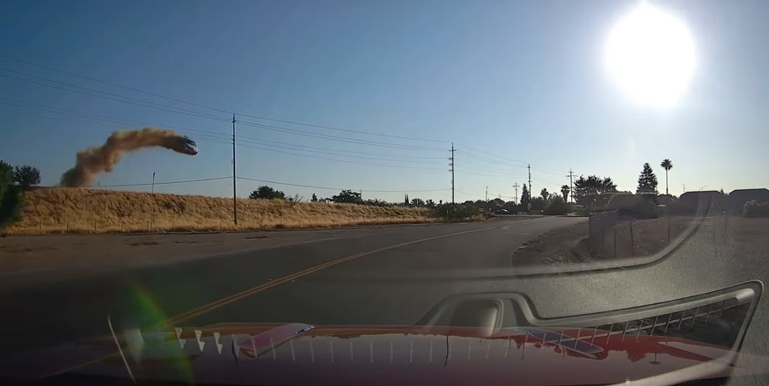 Absolutely Insane Car Launch Captured On Dashcam