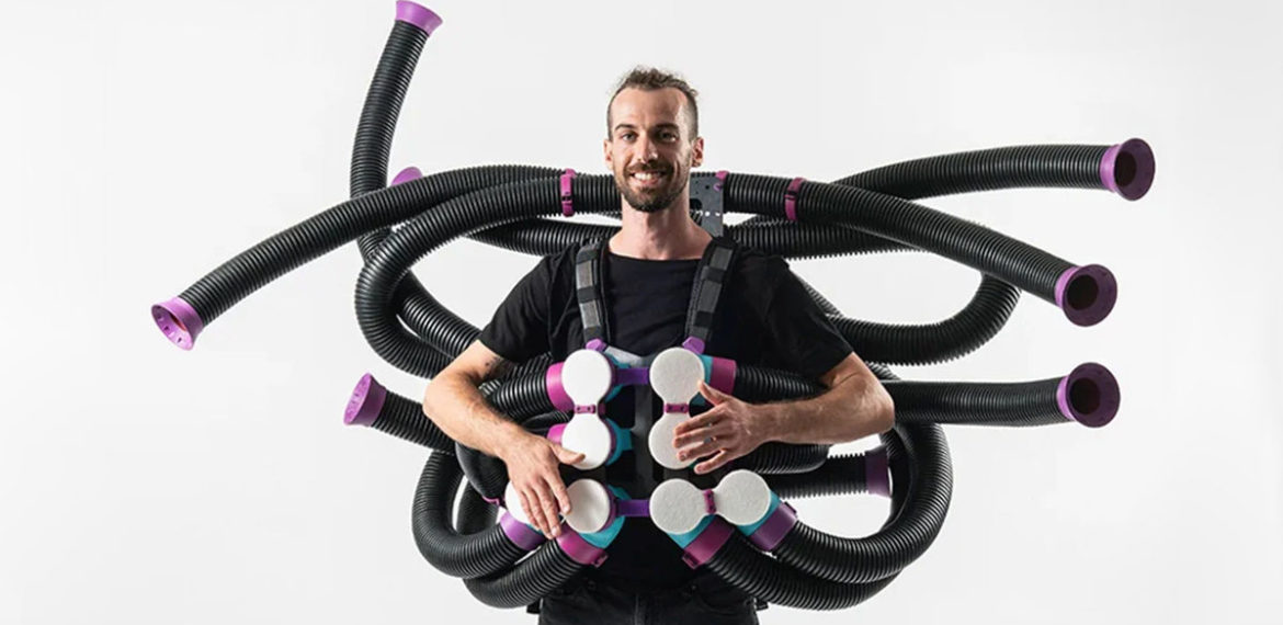 Doctor Octopus Style Wearable Pipes Instruments