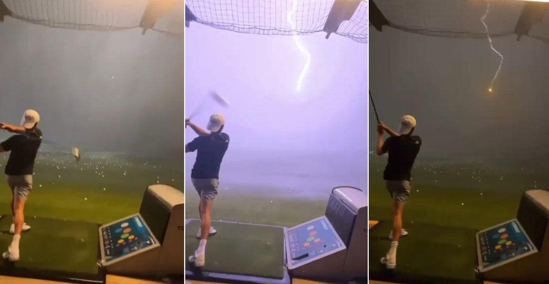 Golf Ball Gets Struck By Lightning At Topgolf