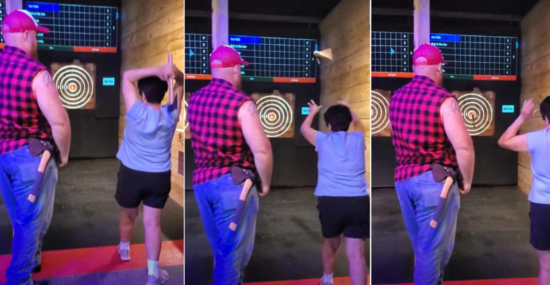 Grandma Nails A Bullseye On First Ever Axe Throw