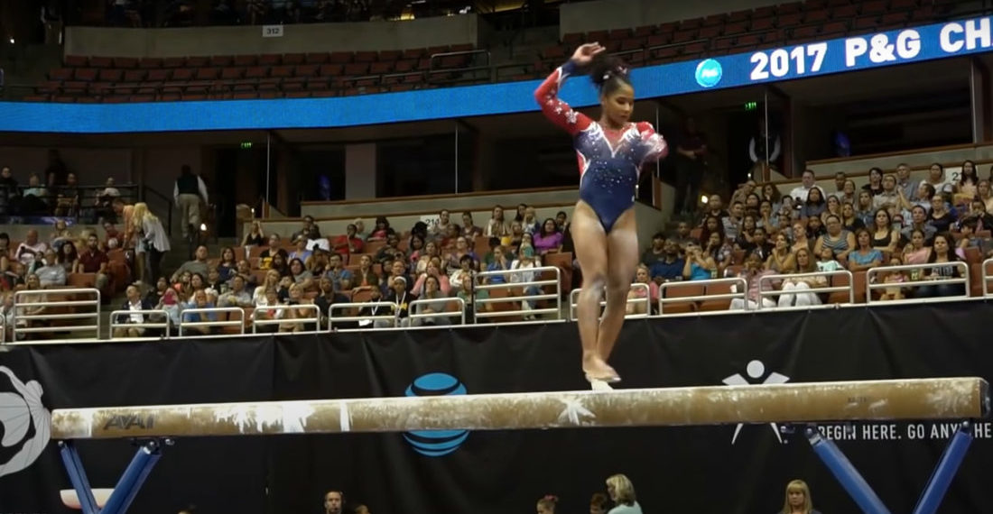 Compilation Video Of Gymnasts Playing Off Their Mistakes