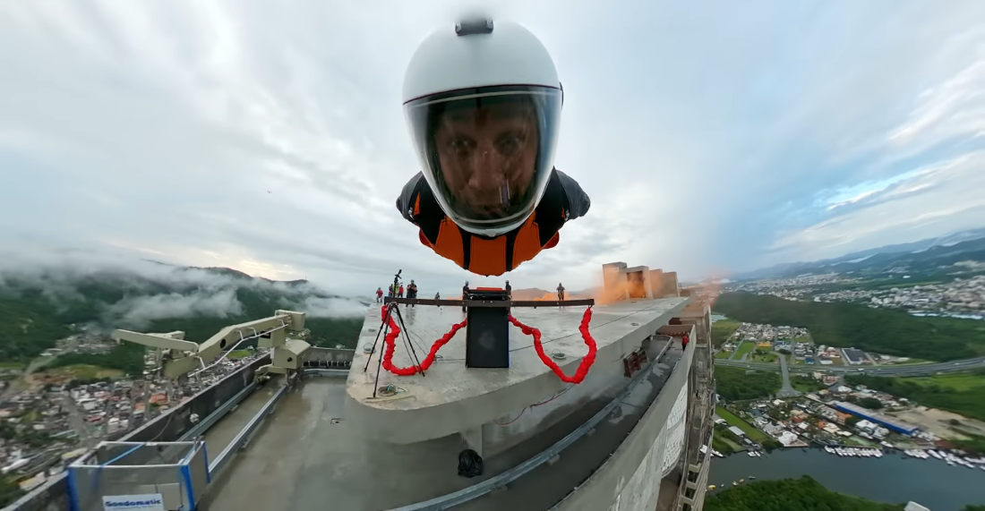 Human Slingshot Launches Wingsuiter From Top Of Tallest Building In Brazil
