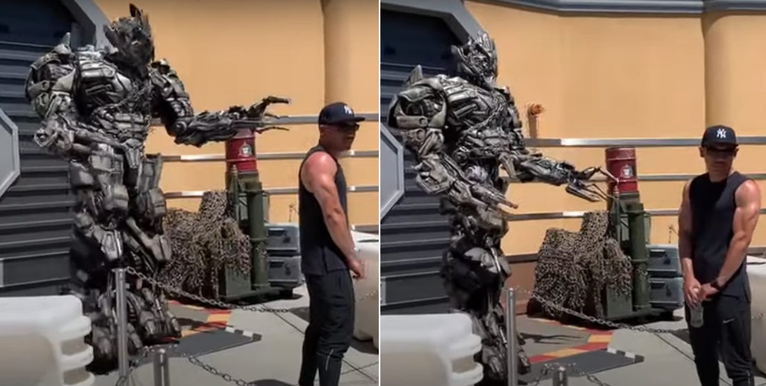 Ice Cold!: Megatron Roasts Posing Guest At Universal Studios