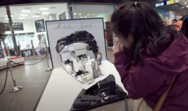Cool 3D Anamorphic Portrait Of Nikola Tesla Made From Appliances