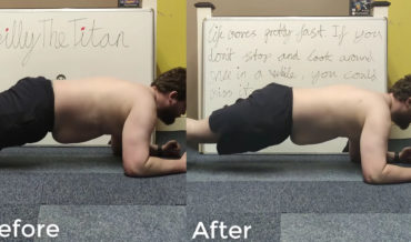 Man Records Progress Planking Every Day For 30 Days