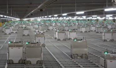 Video Of A Gigantic 2,300-Robot Grocery Order Packing Warehouse