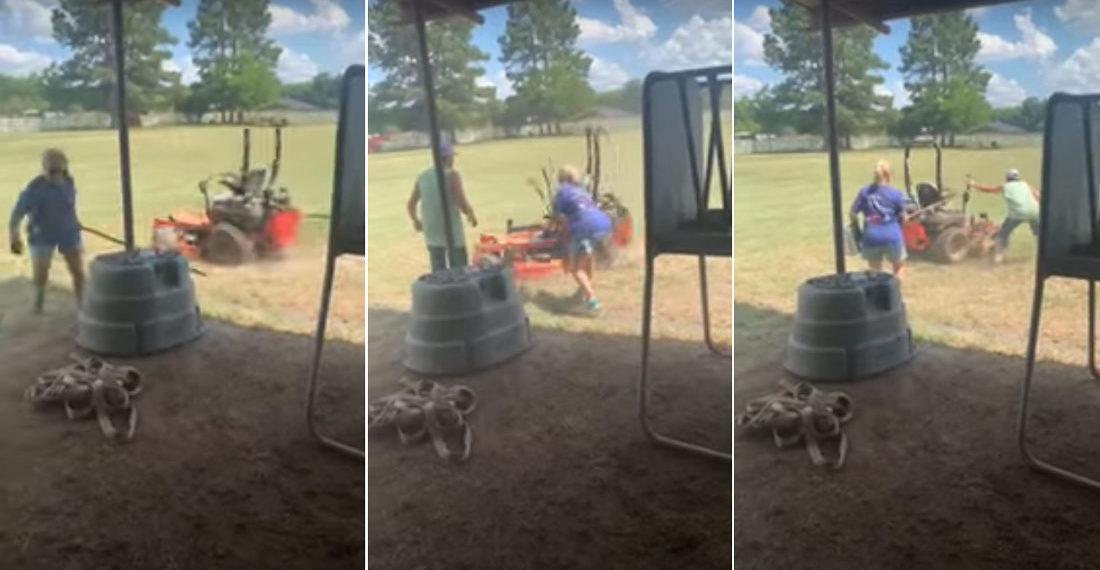 Woopsie: Mom Leaves Zero-Turn Lawnmower Doing Donuts In Yard