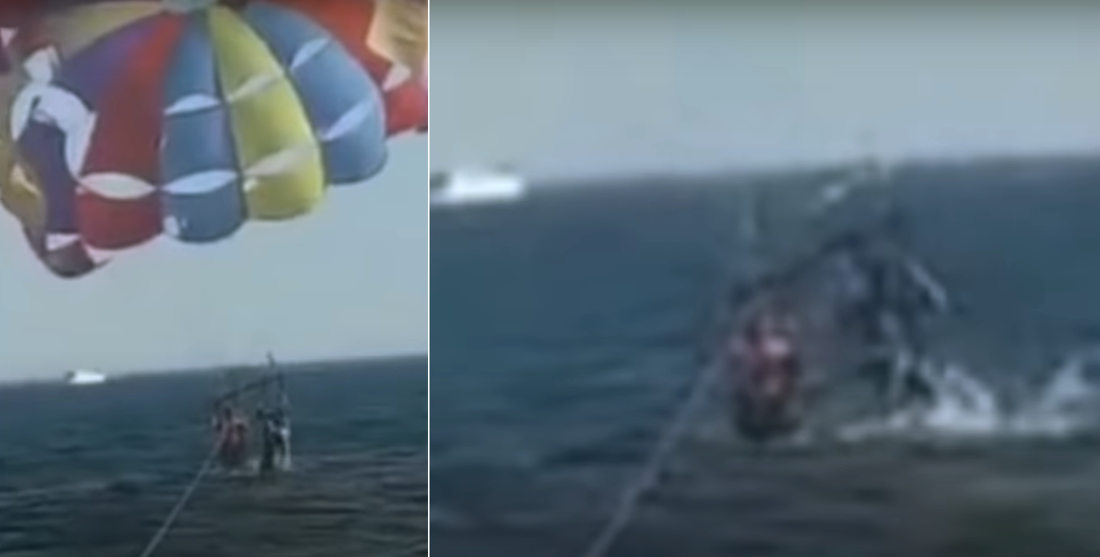Shark Takes Bite Out Of Parasailer's Foot