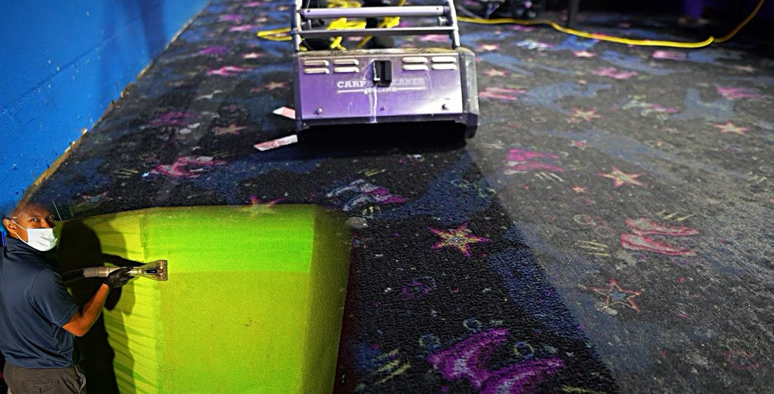 Skating Rink Carpet Gets Professionally Cleaned For First Time In 12 Years