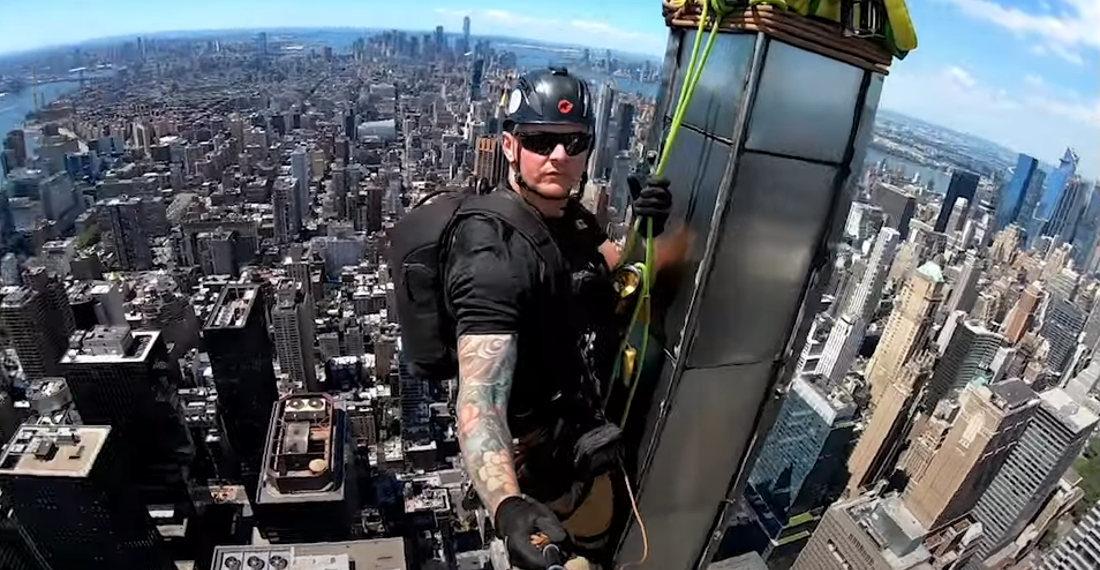 Steeplejack Takes Selfie Video From Top Spire Of NYC's Chrysler Building