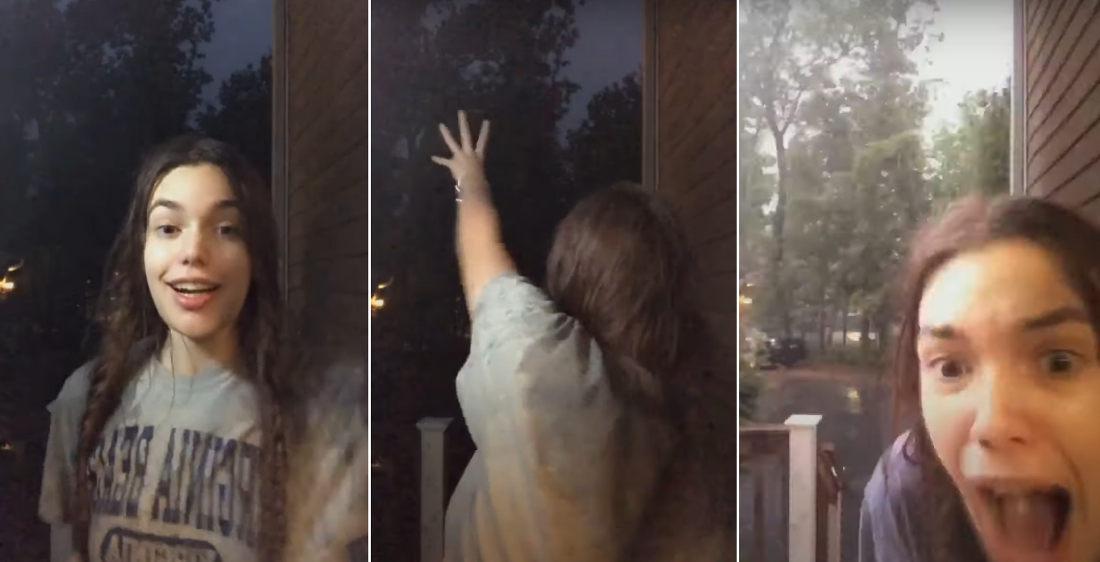 Woman Pretending To Summon Lightning Accidentally Summons Lightning