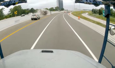 Dashcam Captures Tanker Truck Accident And Explosion