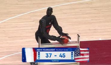 Basketball Shooting Humanoid Robot Casually Sinks Half-Court Shot At Olympics