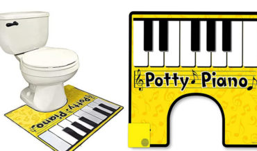Hitting The Low Notes: Toilet Rug With Electronic Keyboard