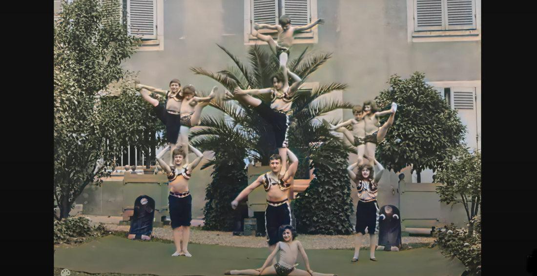 120 Year Old Footage Of Parisian Acrobat Children Gets AI Enhanced