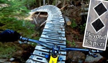 "First Person POV Ride Down A ""Beyond Expert"" Mountain Bike Trail"