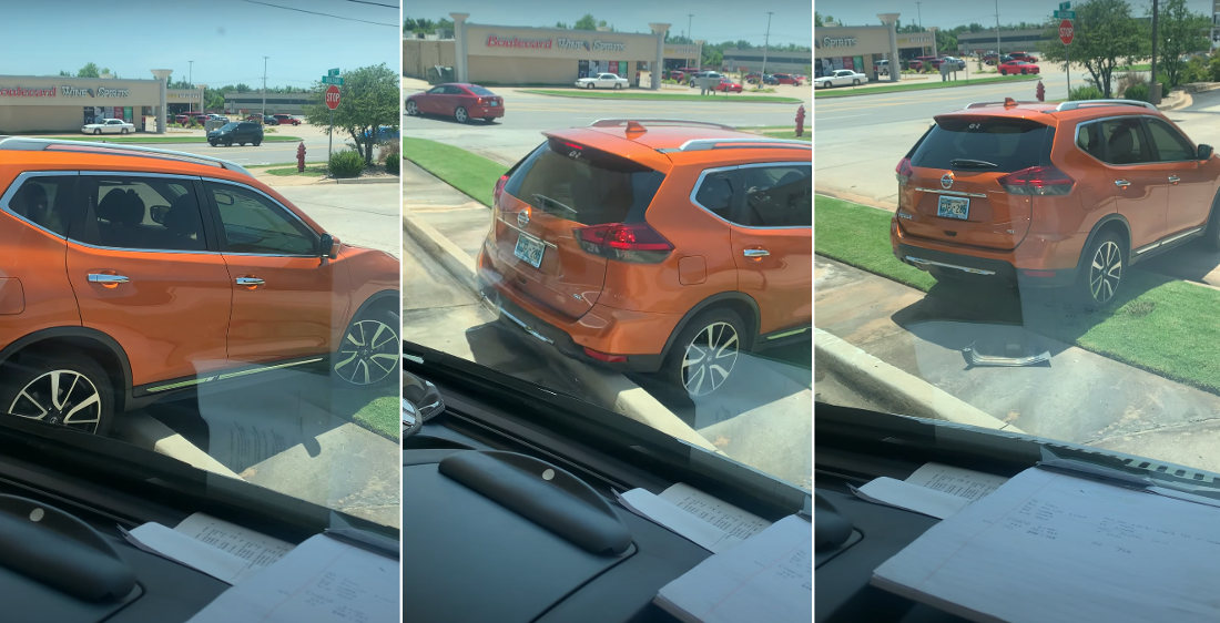 Screw This, I'm Outta Here: Woman Drives Over High Curb At Sonic Drive-In
