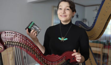 Harpist Runs Instrument Through The Most Extreme Distortion Pedal She Could Find