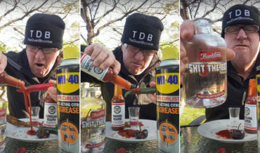 Lunatic Eating Hot Peppers Covered In Ultra Hot Sauce