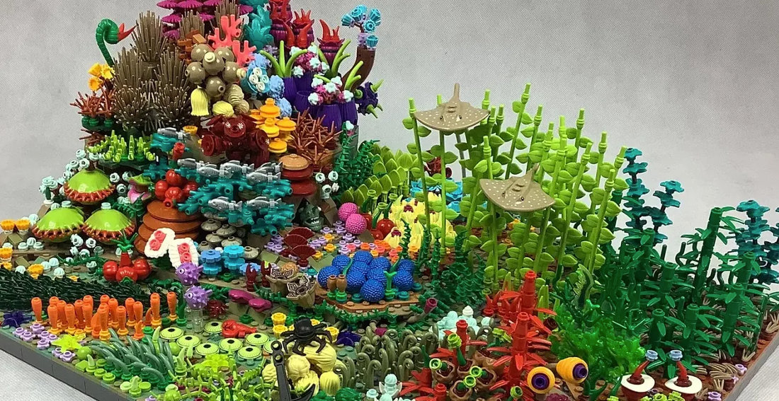Stunning LEGO Ideas Coral Reef Build