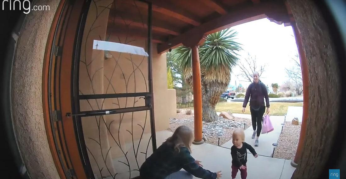 Little Girl Dodges Grandma On Way To Grandpa