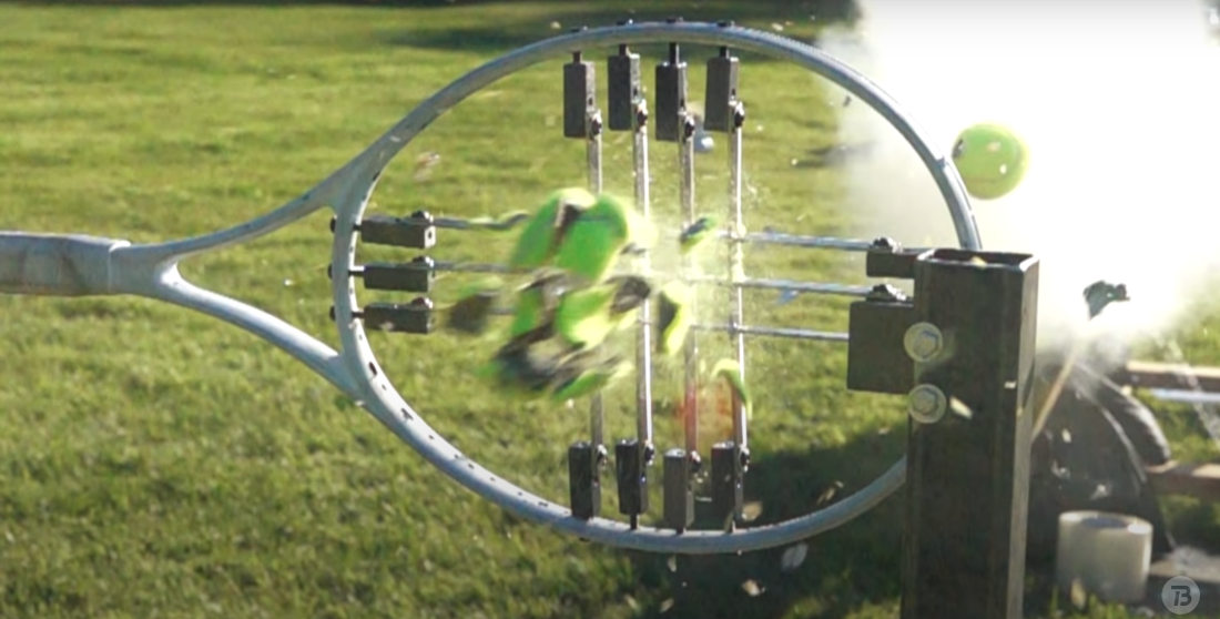Will It Shred?: Shooting 560MPH Tennis Balls At A Racquet Made Of Razors