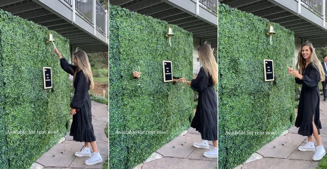 My Garden Demands It: The Ring Bell For Champagne Magical Topiary Wall