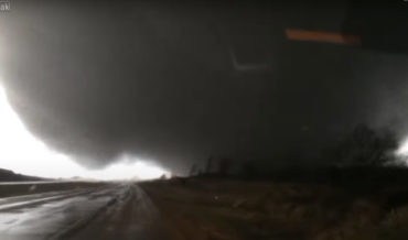 Storm Chaser Gets Way Too Up Close And Personal With Tornado