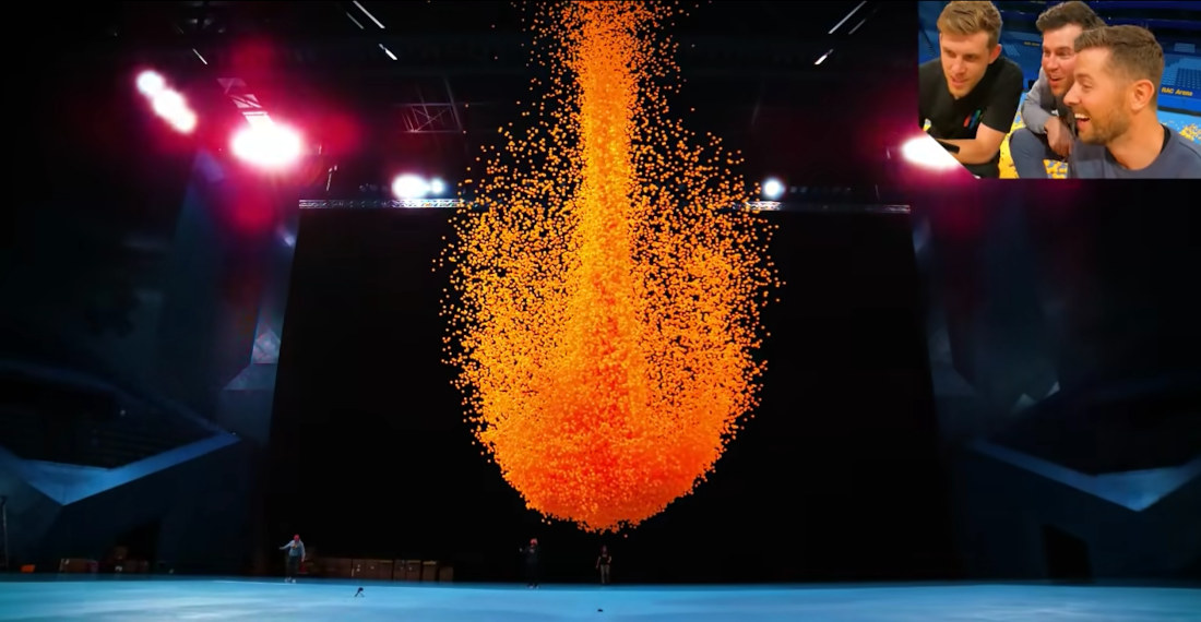100,000 Ping Pong Balls Dropped At Once Filmed In Ultra Slow-Motion