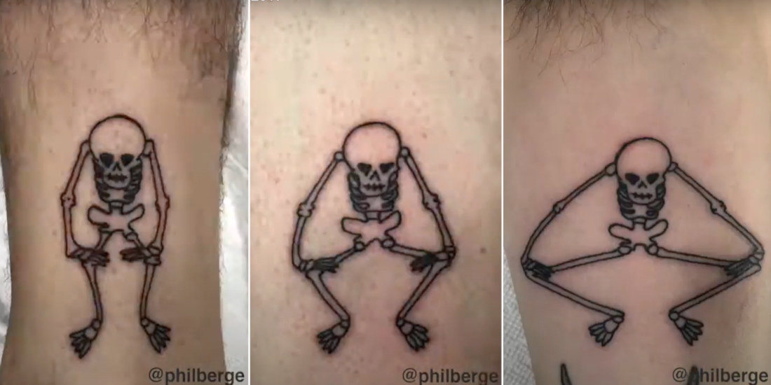 Flipbook Style Animations Created From Tattoos