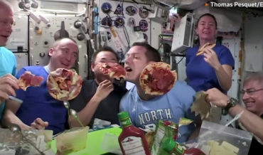 Astronauts Aboard The International Space Station Throw A Pizza Party