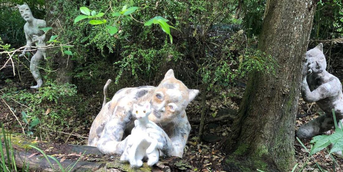 Artist Sculpts Live-Size Catmen Using Actual Cat Hair