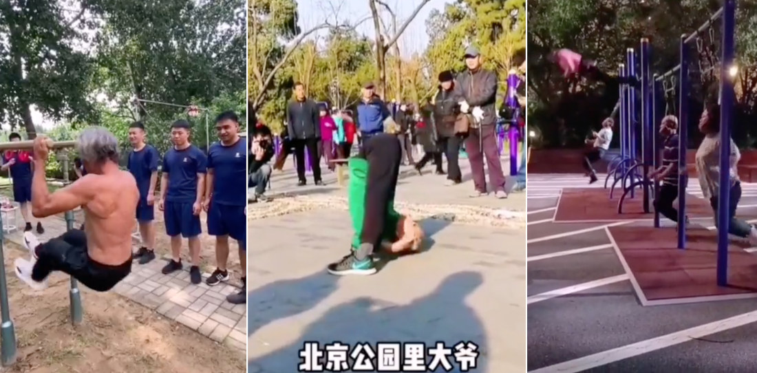 Good Heavens: Elderly Chinese Exercisers Demonstrate Their Incredible Fitness