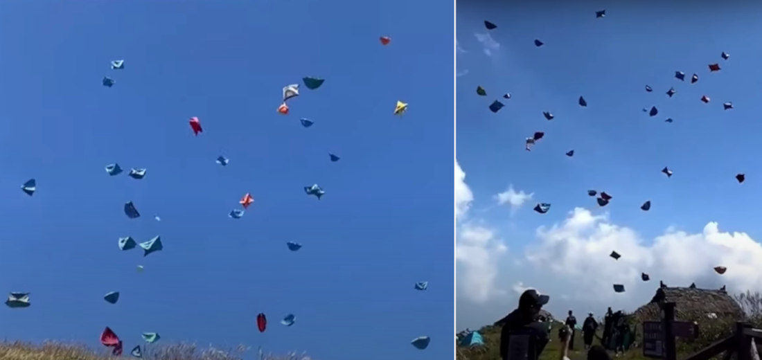 Dozens Of Tents Take Flight From Mountaintop Camp Site
