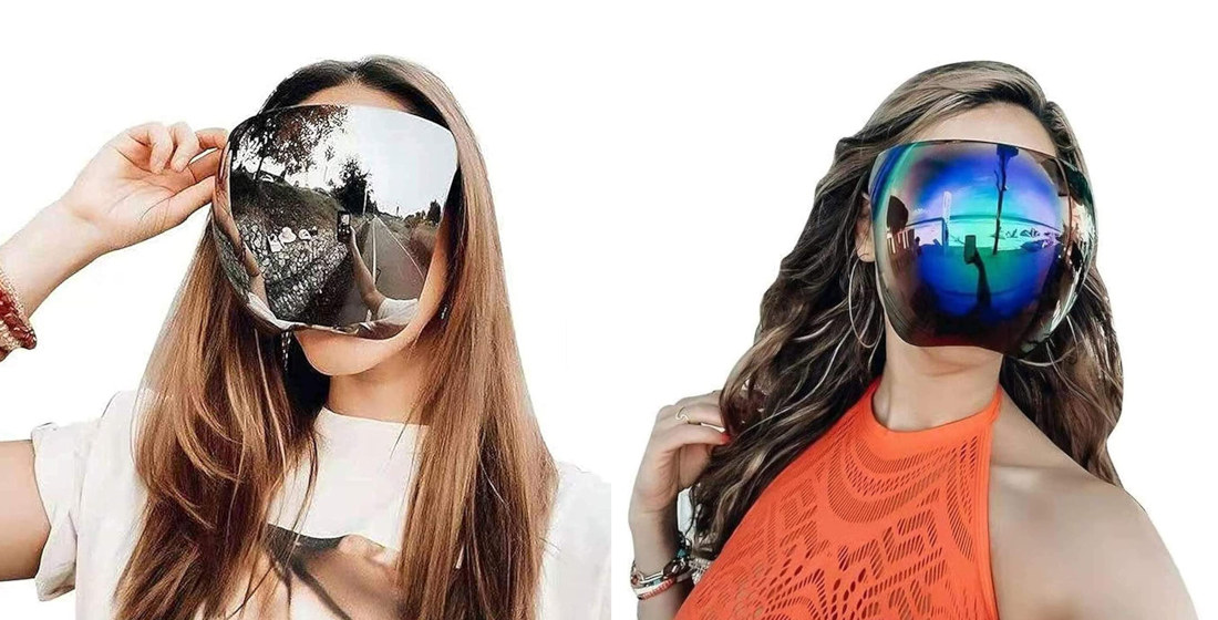 Count Me In: Full Face Covering Mirrored Sunglasses