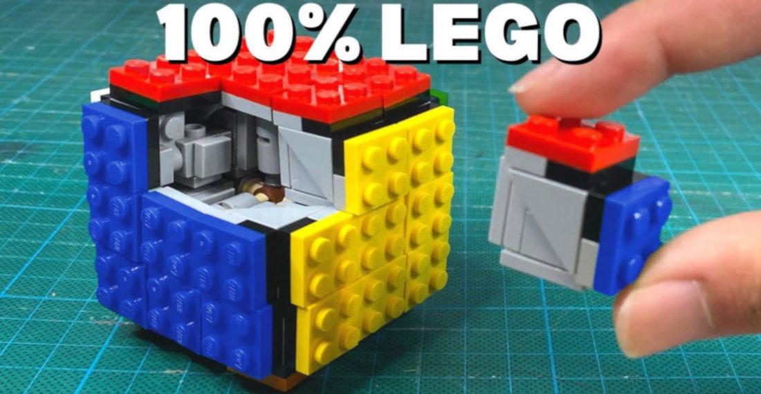 Guy Builds Fully Functional 3 x 3 LEGO Rubik's Cube